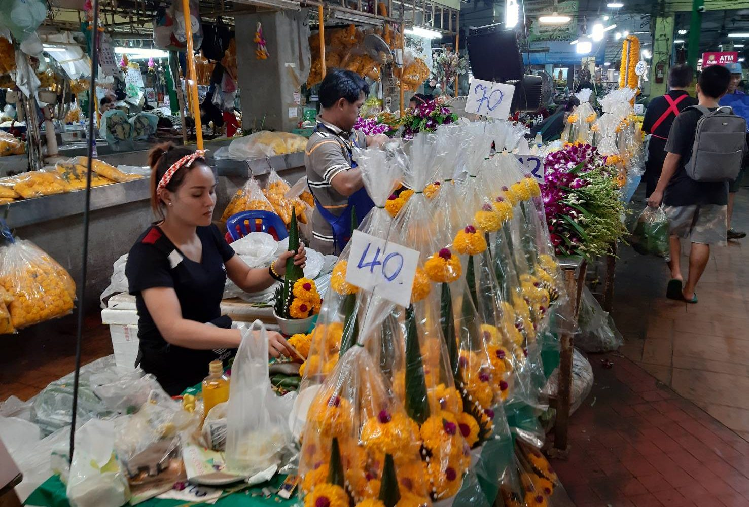 Pakklong Talad Flower Market
