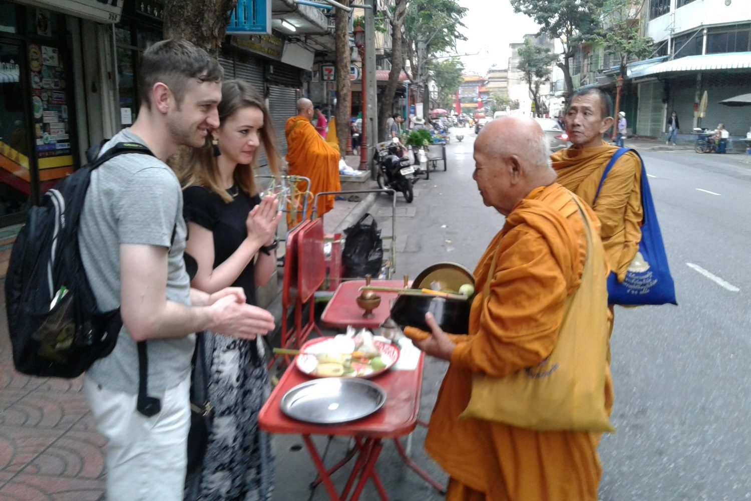Morning almsgiving Bangkok