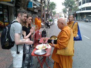Morning almsgiving Bangkok