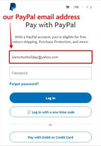 PayPal emailAddress