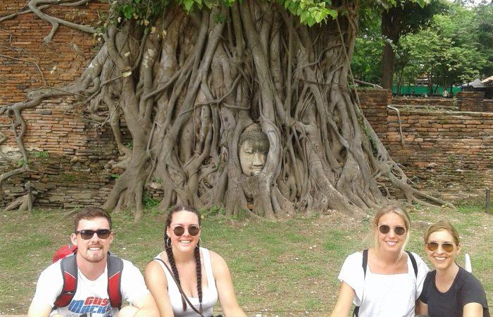BuddhaHead in TreeRoot at Wat Mahathat Ayutthaya